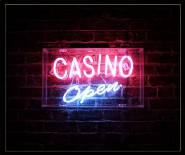 CASINO OPEN Neon Sign
